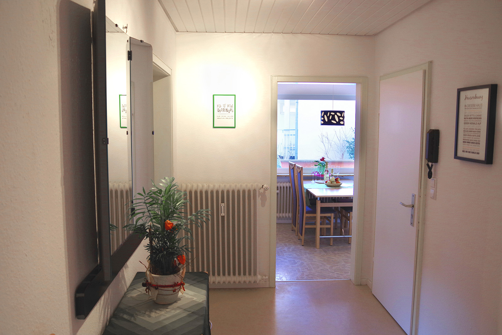 Holiday apartments on Lake Constance: Familienhafen - Corridor