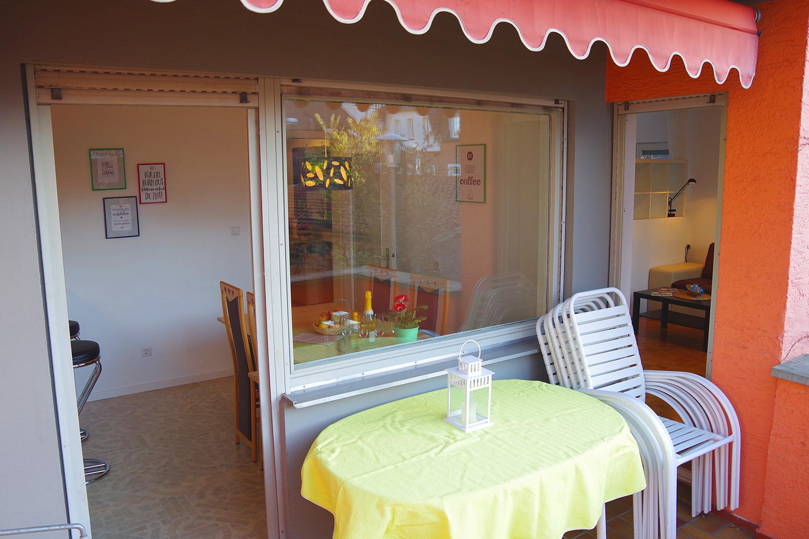 Ferienwohnung am Bodensee: Familienhafen - Balkon