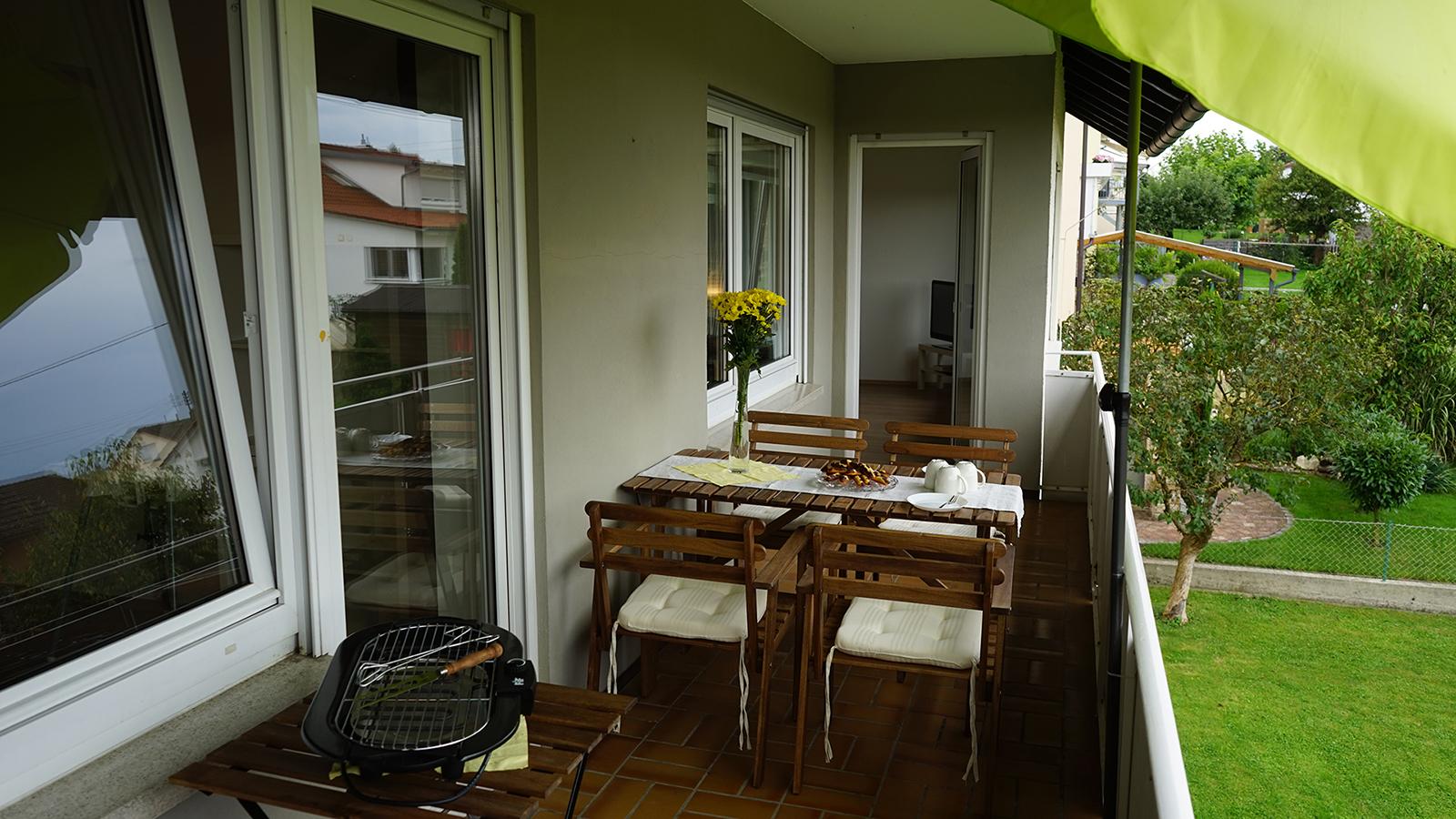Ferienwohnung am Bodensee: Weitblick - Balkon