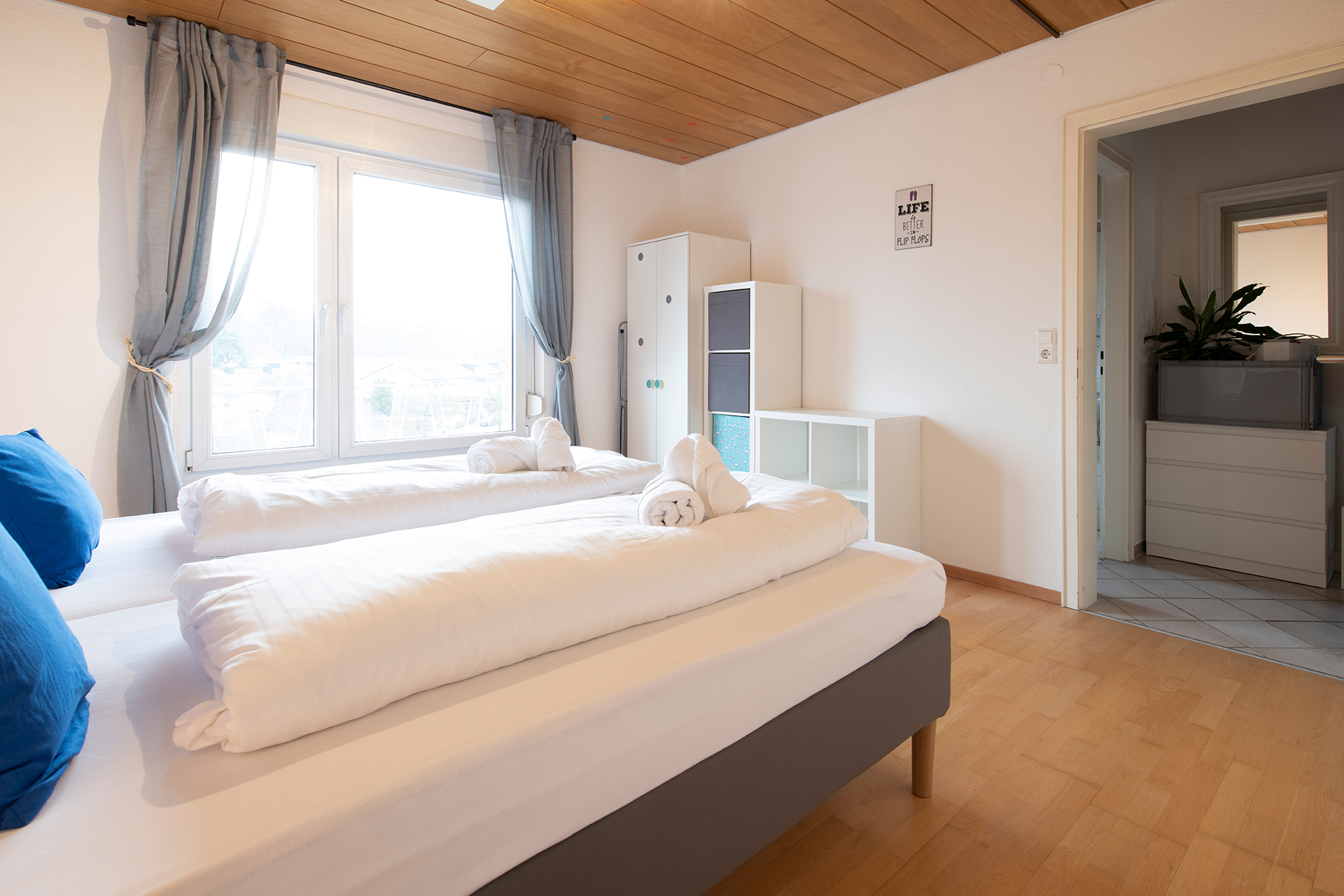 Ferienwohnung am Bodensee: Friedrichshafen - Schlafzimmer