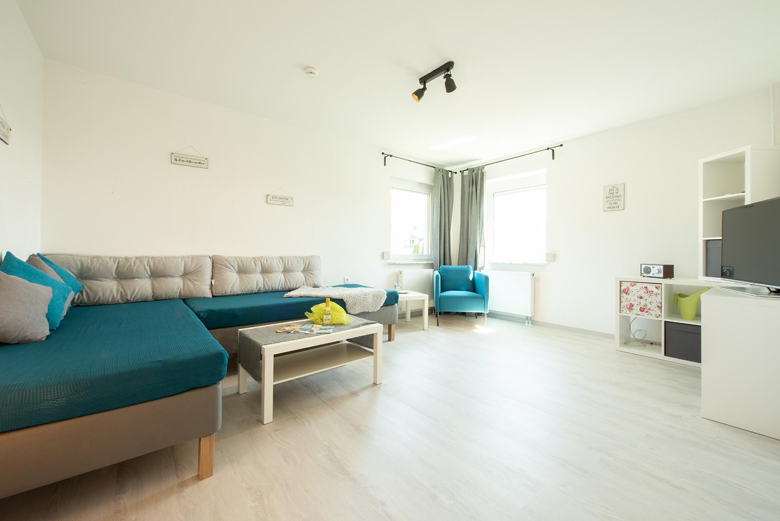 Ferienwohnung am Bodensee: Meersburg - Wohnzimmer