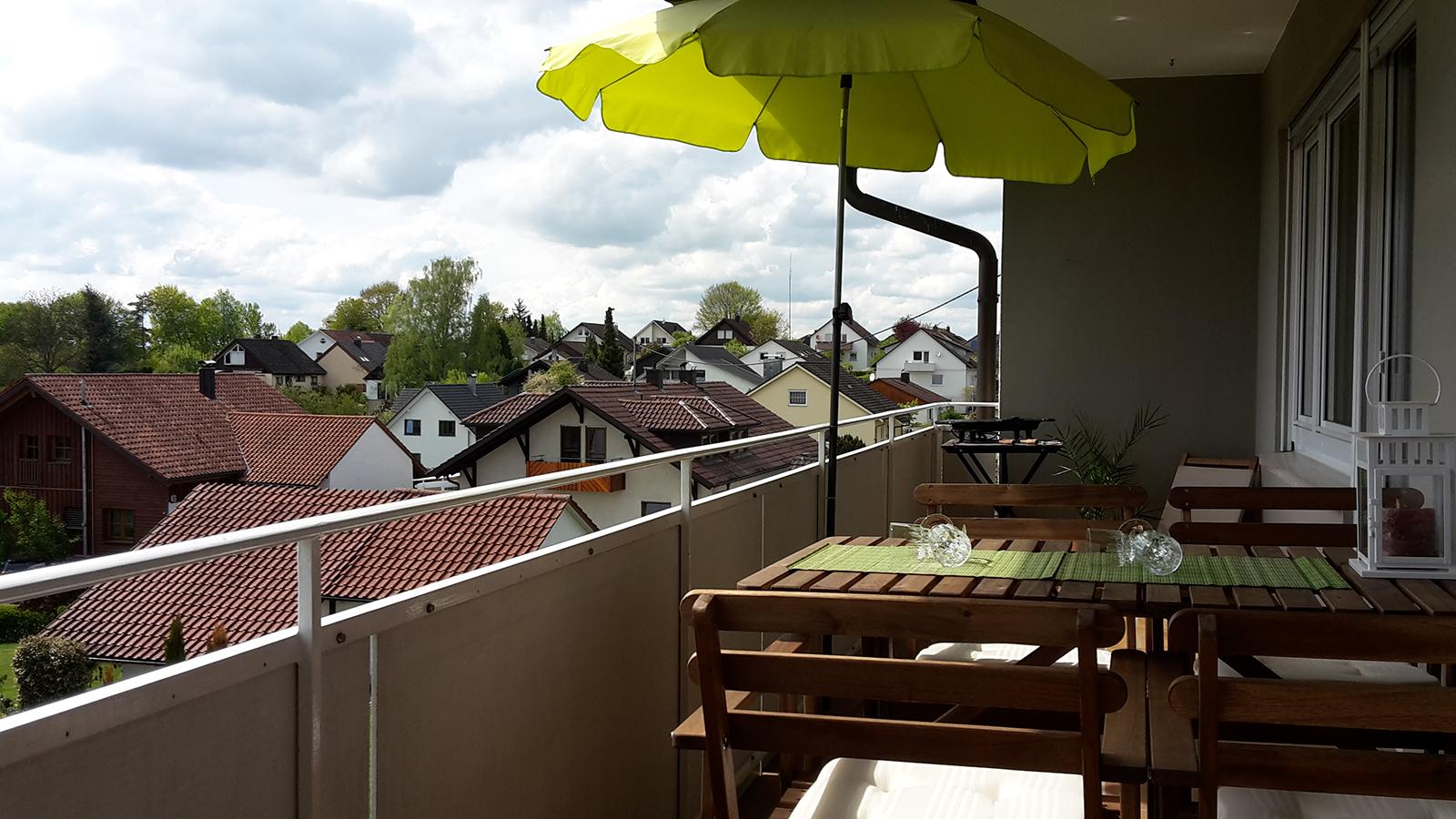 Ferienwohnung am Bodensee: Weitblick - Balkon & Ausblick