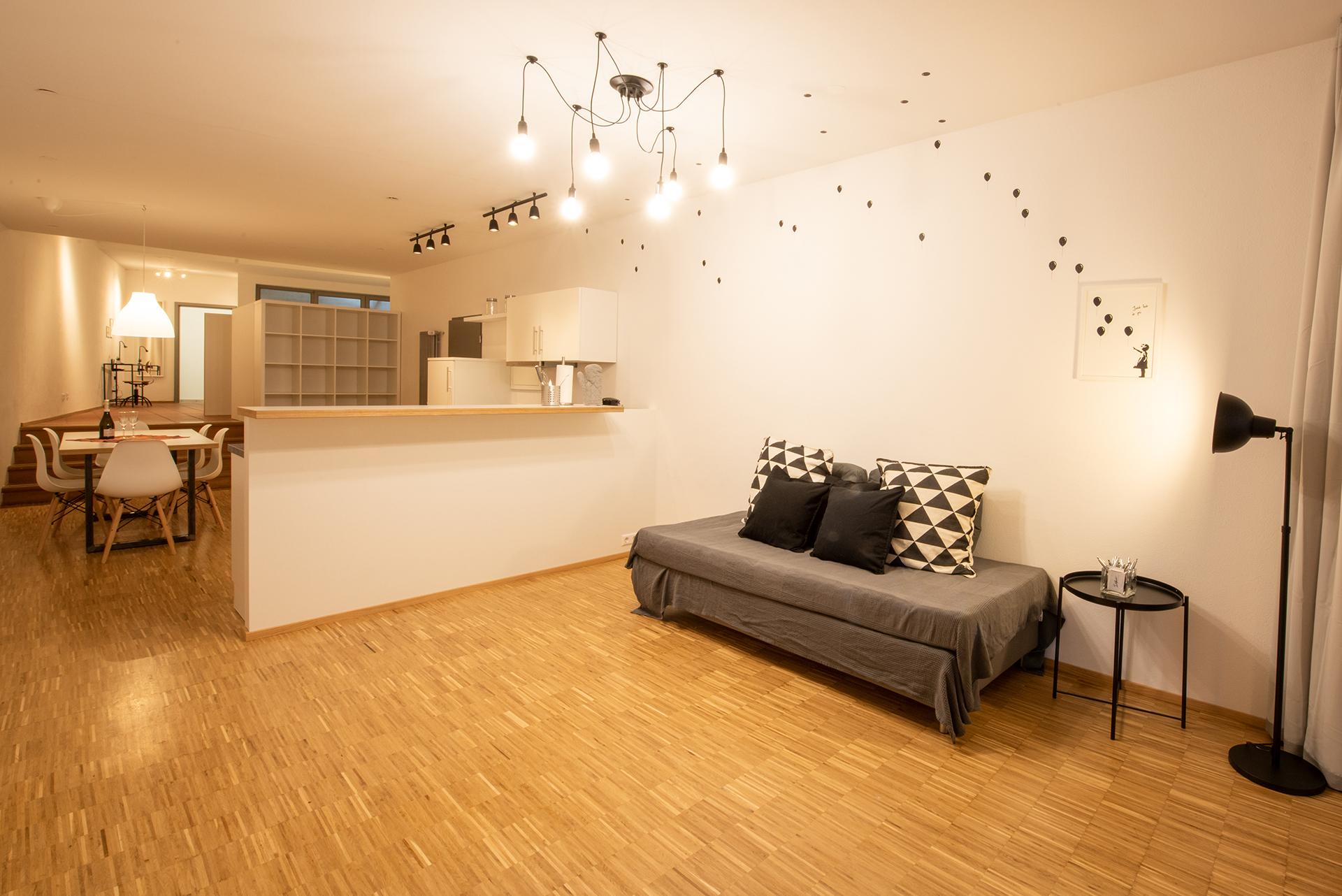 Business Apartment am Bodensee - Aufenthaltsbereich