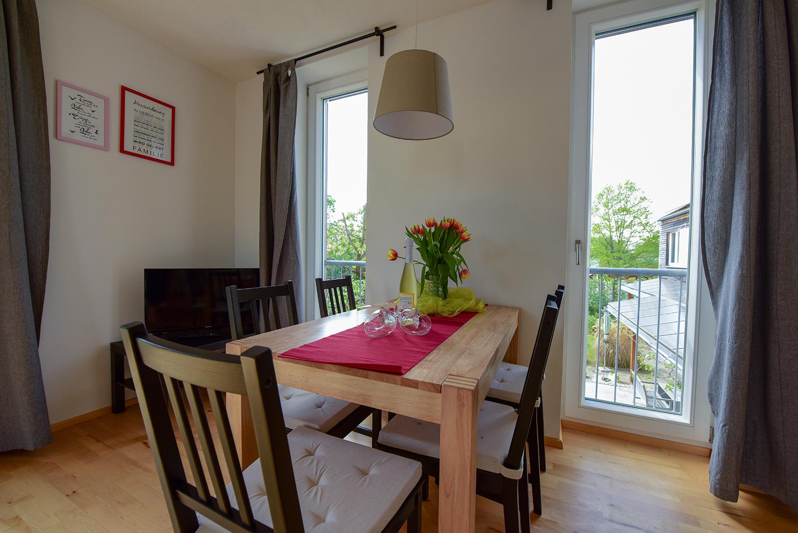 Ferienwohnung am Bodensee: Seeblüte - Essbereich