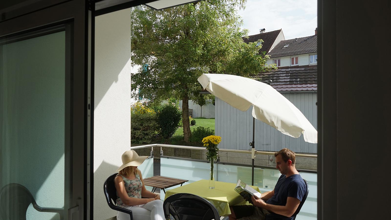 Ferienwohnung am Bodensee: Deluxe - Balkon