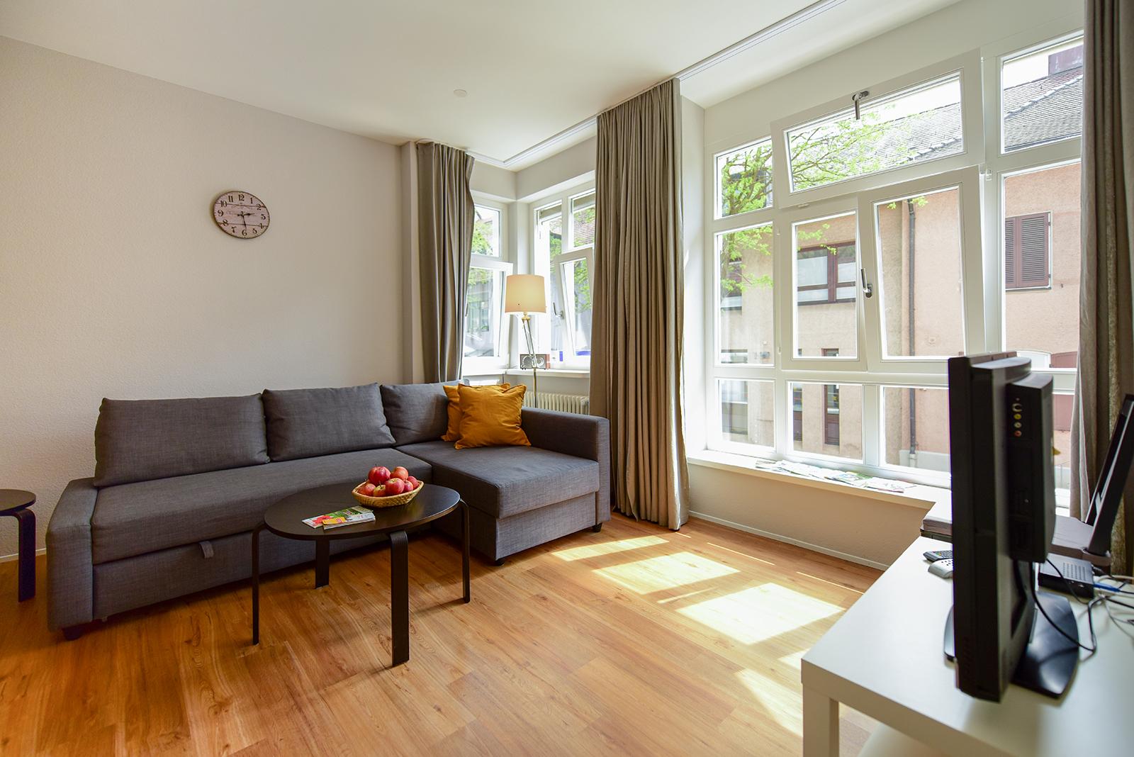 Ferienwohnung am Bodensee: City Appartement 2 - Wohnzimmer