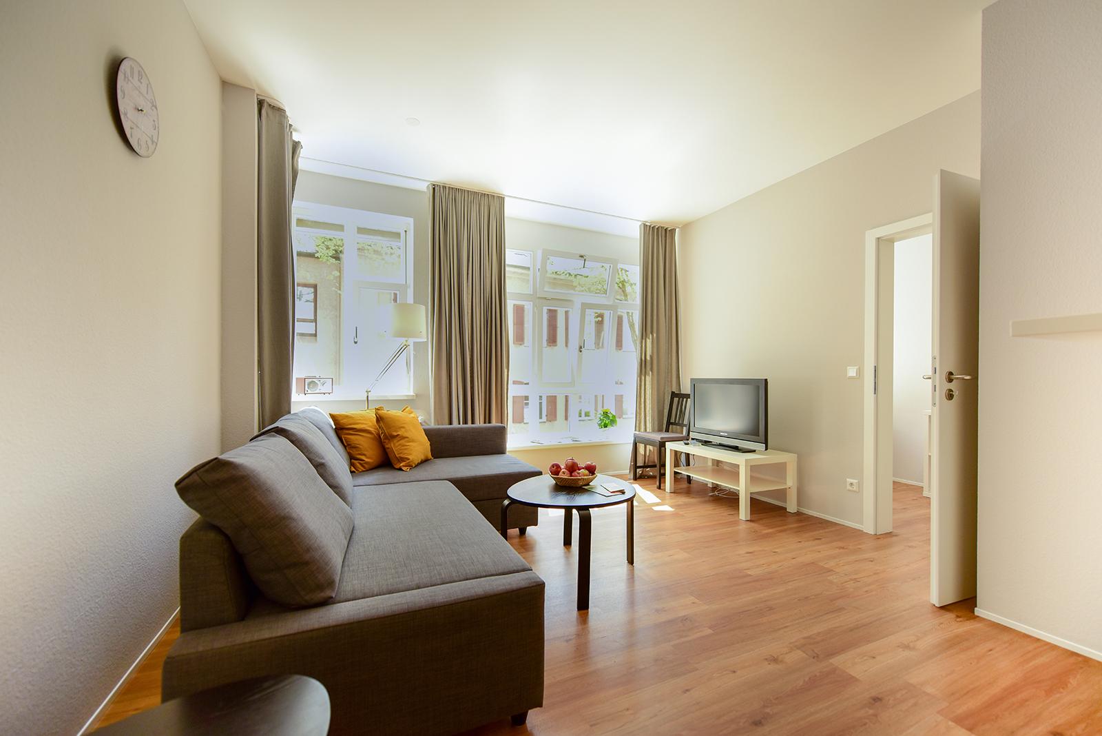 Ferienwohnung am Bodensee: City Appartement 2 - Wohnbereich