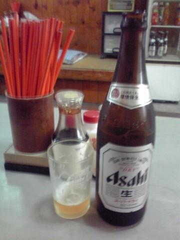 やっぱビール飲まんと!