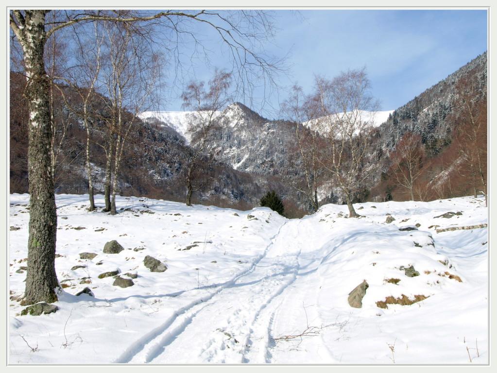 La vallée de la Wormsa en hiver