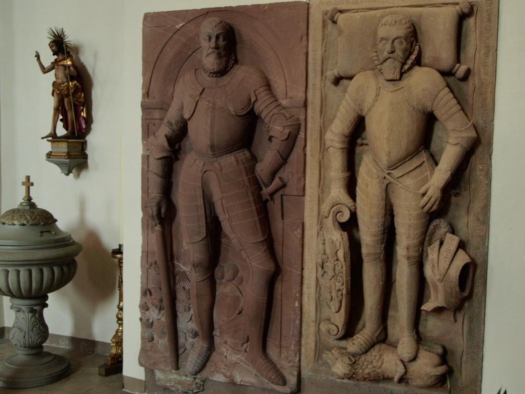 Pierres tombales de Lazare et Guillaume de Schwendi