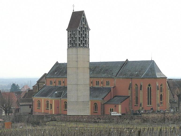 L'église actuelle et son campanile