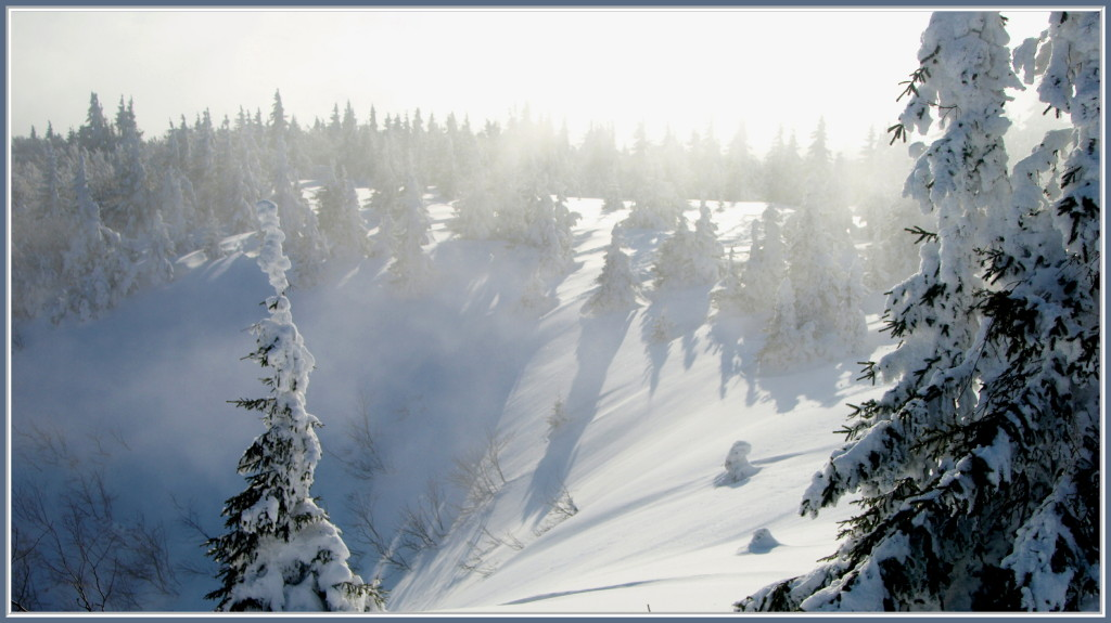 Quand le brouillard monte vers le sommet