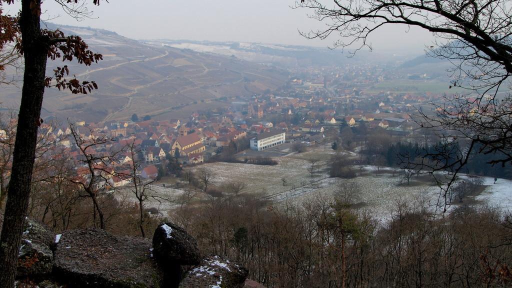 au Grossfels : vue sur Soultzmatt