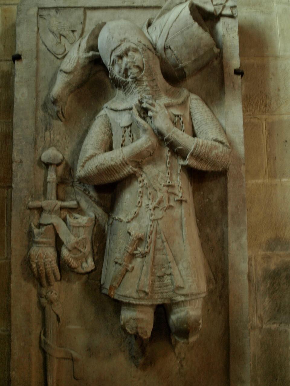 Rouffach : gisant du chevalier Werner Falcke
