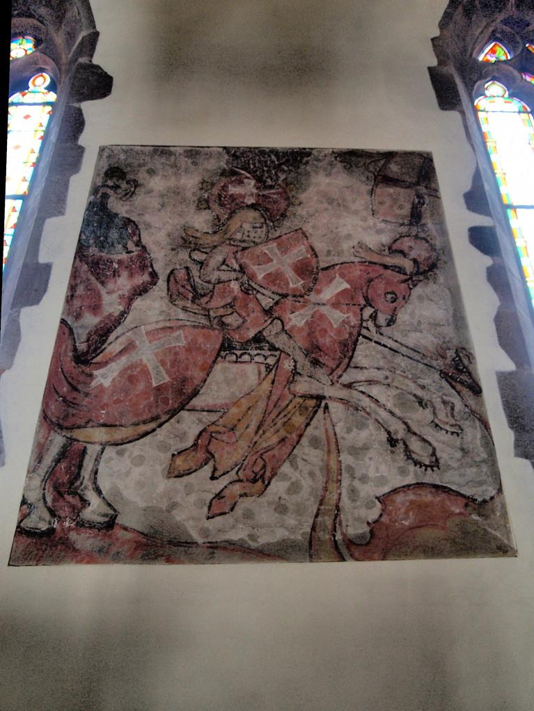 Saint Georges terrassant le dragon 14ième siècle