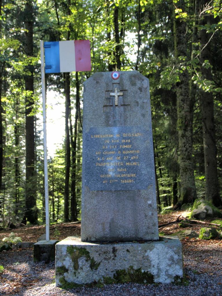 Stèle Parmentier au Col du Page