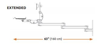 ICWUSA 壁面固定ロングアーム Titanシリーズ