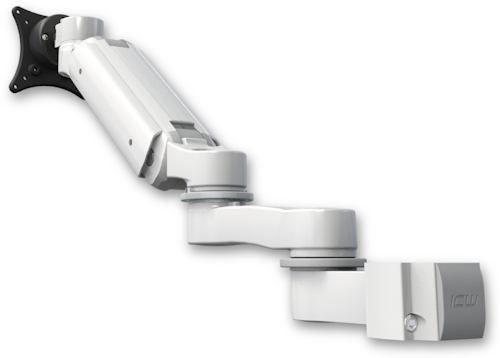 ポールマウント 支柱取付 昇降式 モニターアーム (6インチ(約15.2cm)延長アーム付) :ASUL180BV-P15-AS1