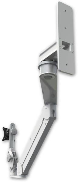 AST2EP-WT2 : ガススプリング内蔵 昇降式 壁面固定ロングアーム ディスプレイ用