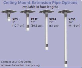 ICWUSA 歯科医院向けモニターアーム シーリングパイプ