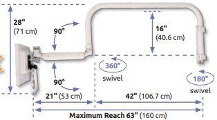 ASUL182I-OHATS 業務用モニターアーム オーバーヘッドアーム