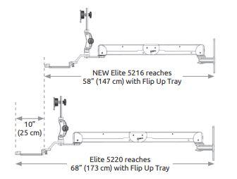 ICWUSA 壁面固定ロングアーム Elite5216/5220シリーズ