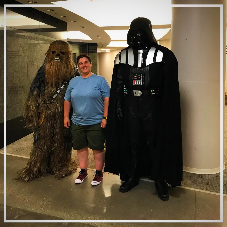 Zum Abschied kamen auch Darth Vader und Chewbacca kurz vorbei  :-)