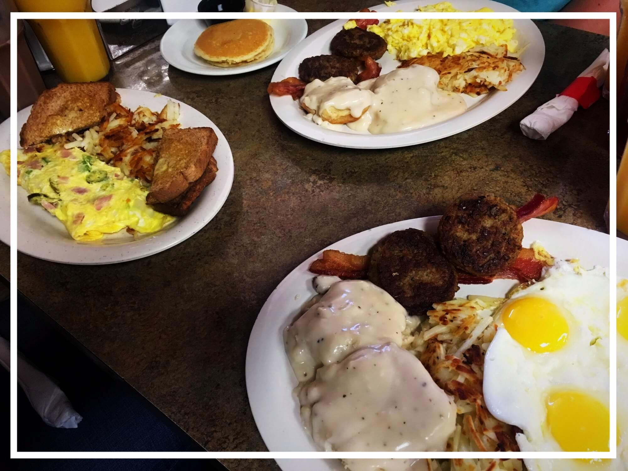 Danach erstmal frühstücken