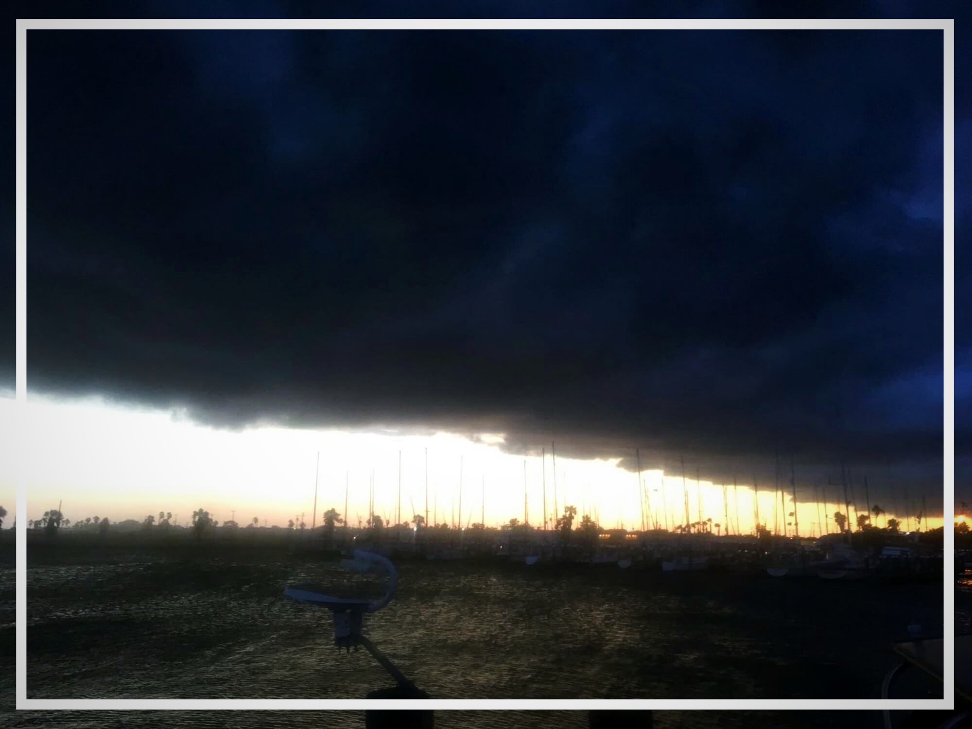 ... braute sich in Rockport ein Sturm zusammen