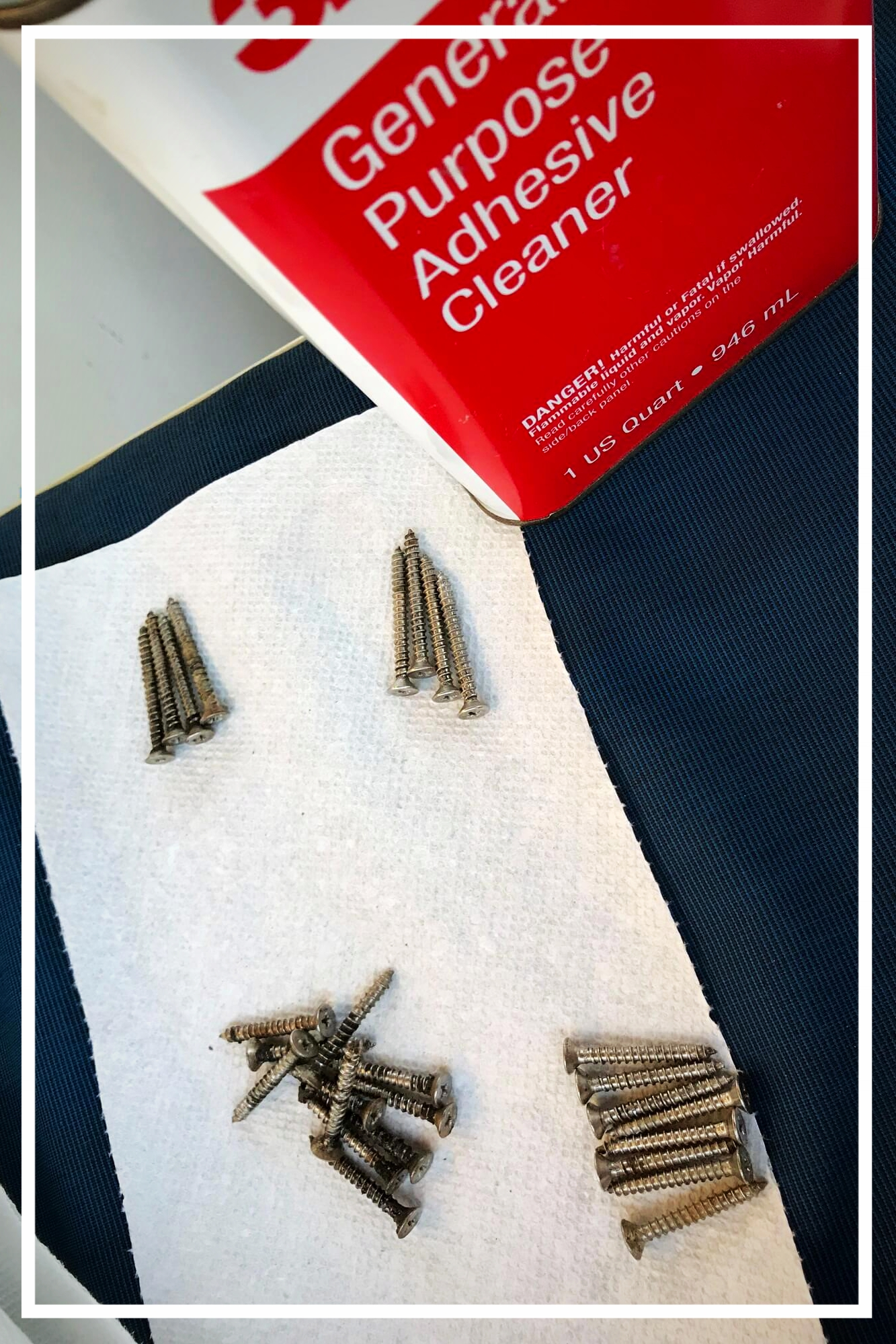Cleaned screws for windows