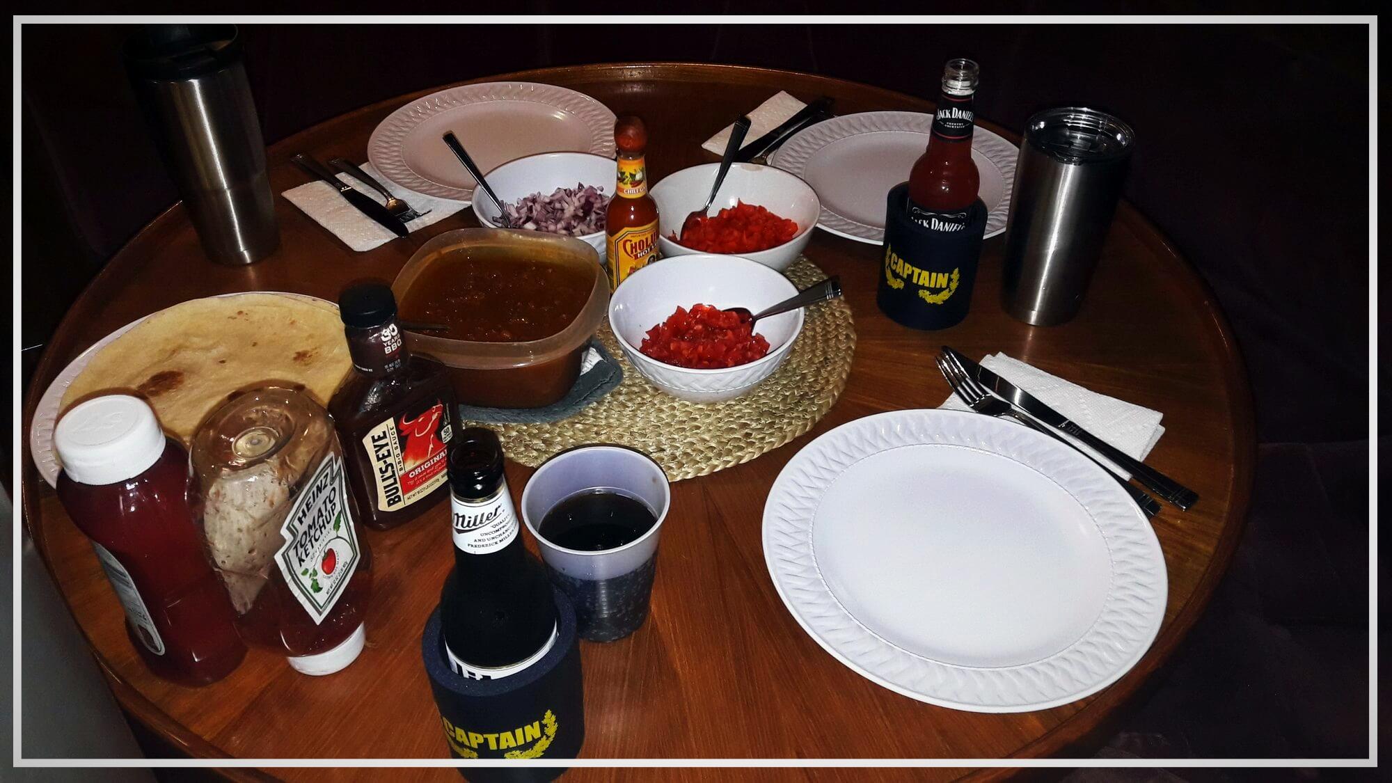 Zum Abschluss des Tages ein leckeres Abendessen