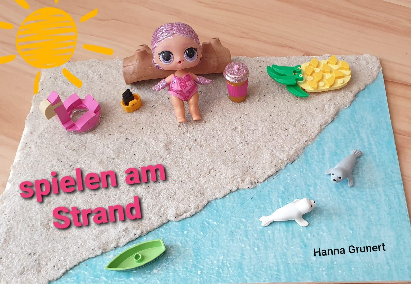 Spielen am Strand. Hanna, 2b
