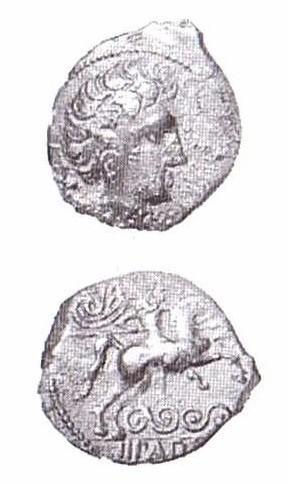 Monnaie type LT XII, 3894, CICIIDV BRI/IIPAD Retrouvée à Alise-Sainte-Reine, la pièce présentée est en relativement bon état contrairement à la majorité du corpus. Crédit: K. Gruel, L. Popovitch