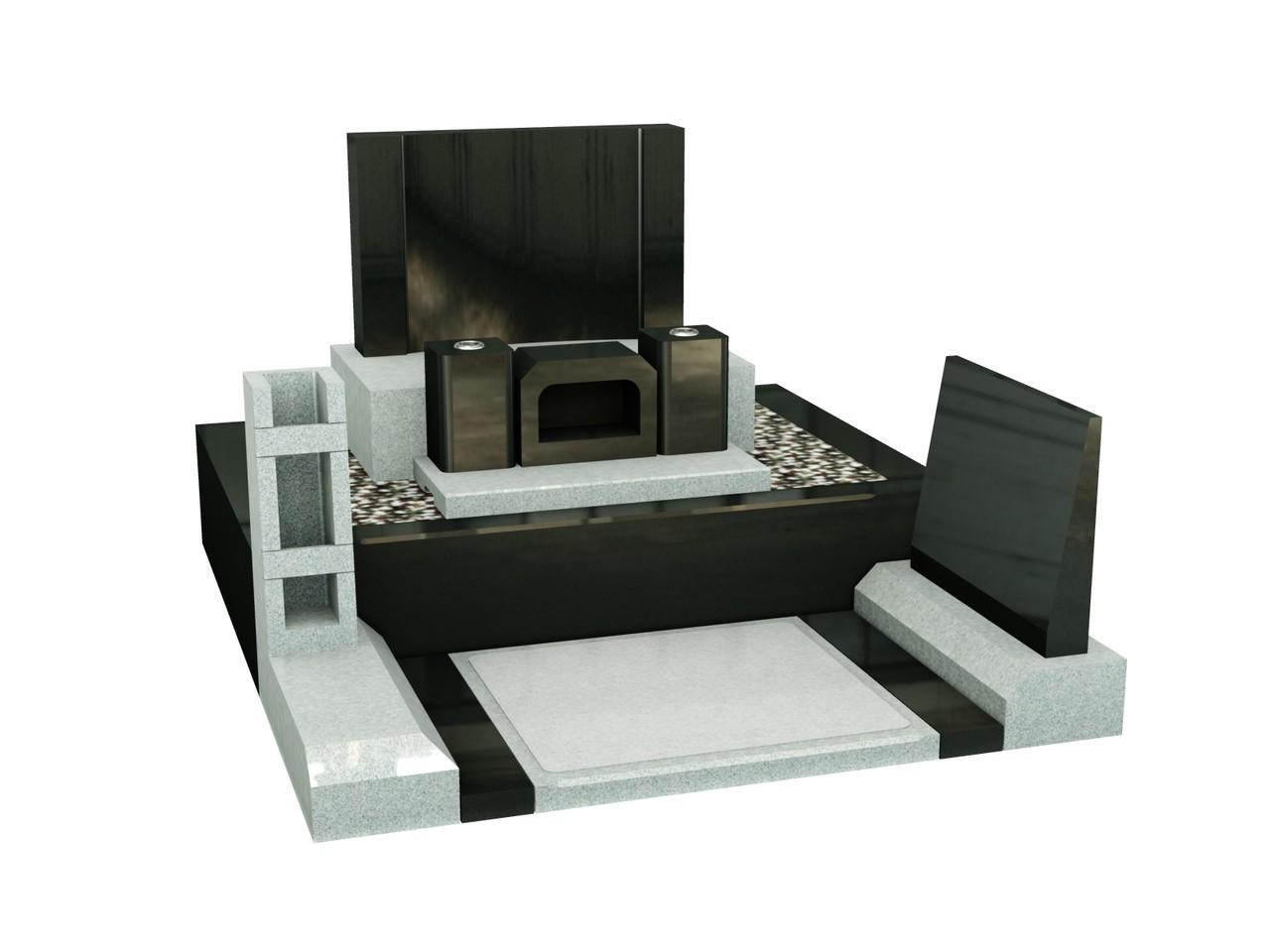 高級黒・白御影石 洋モダン型 60×70