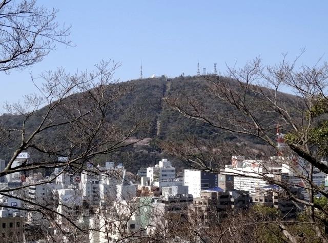 城山からの眉山