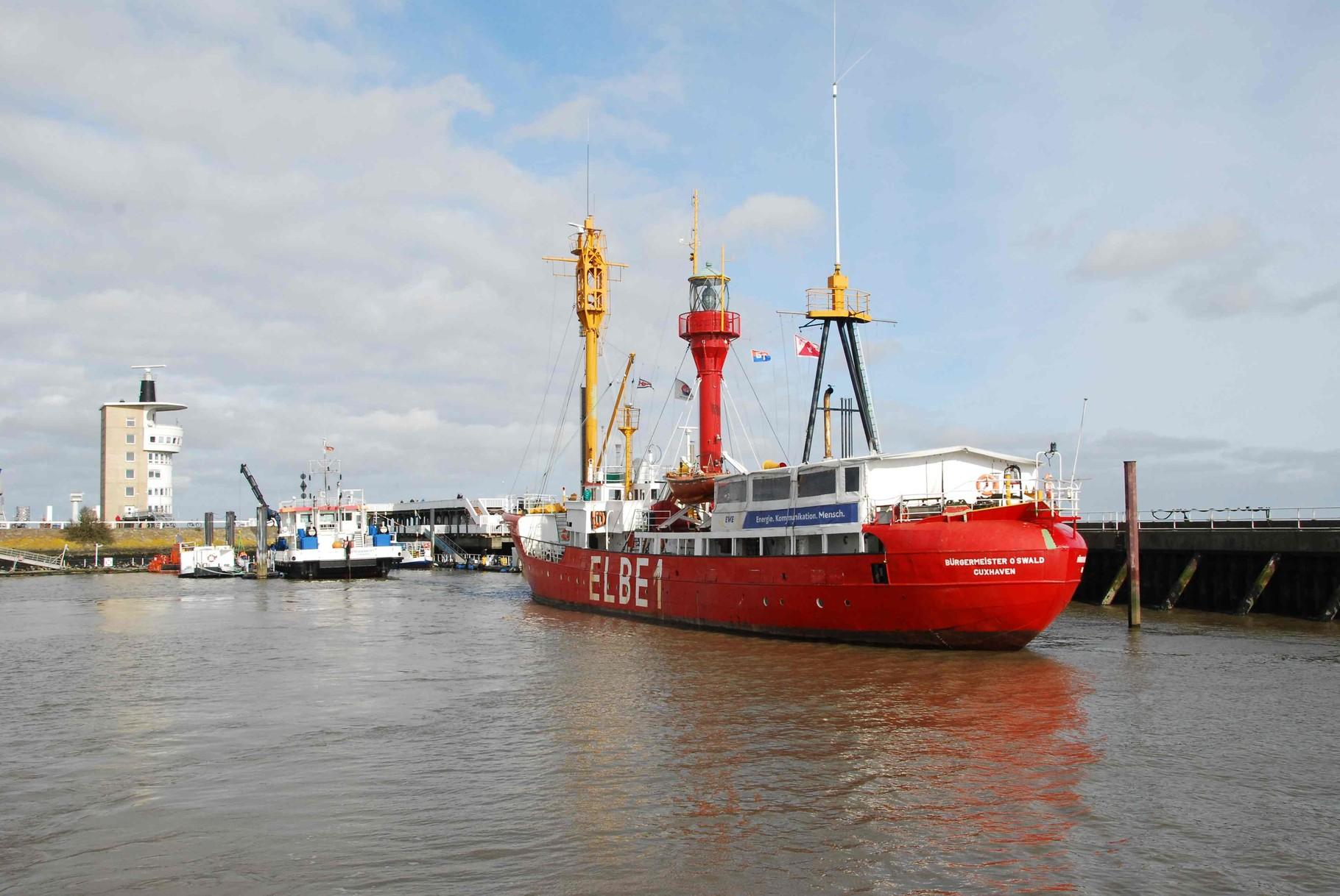 das ehemalige Feuerschiff Elbe 1