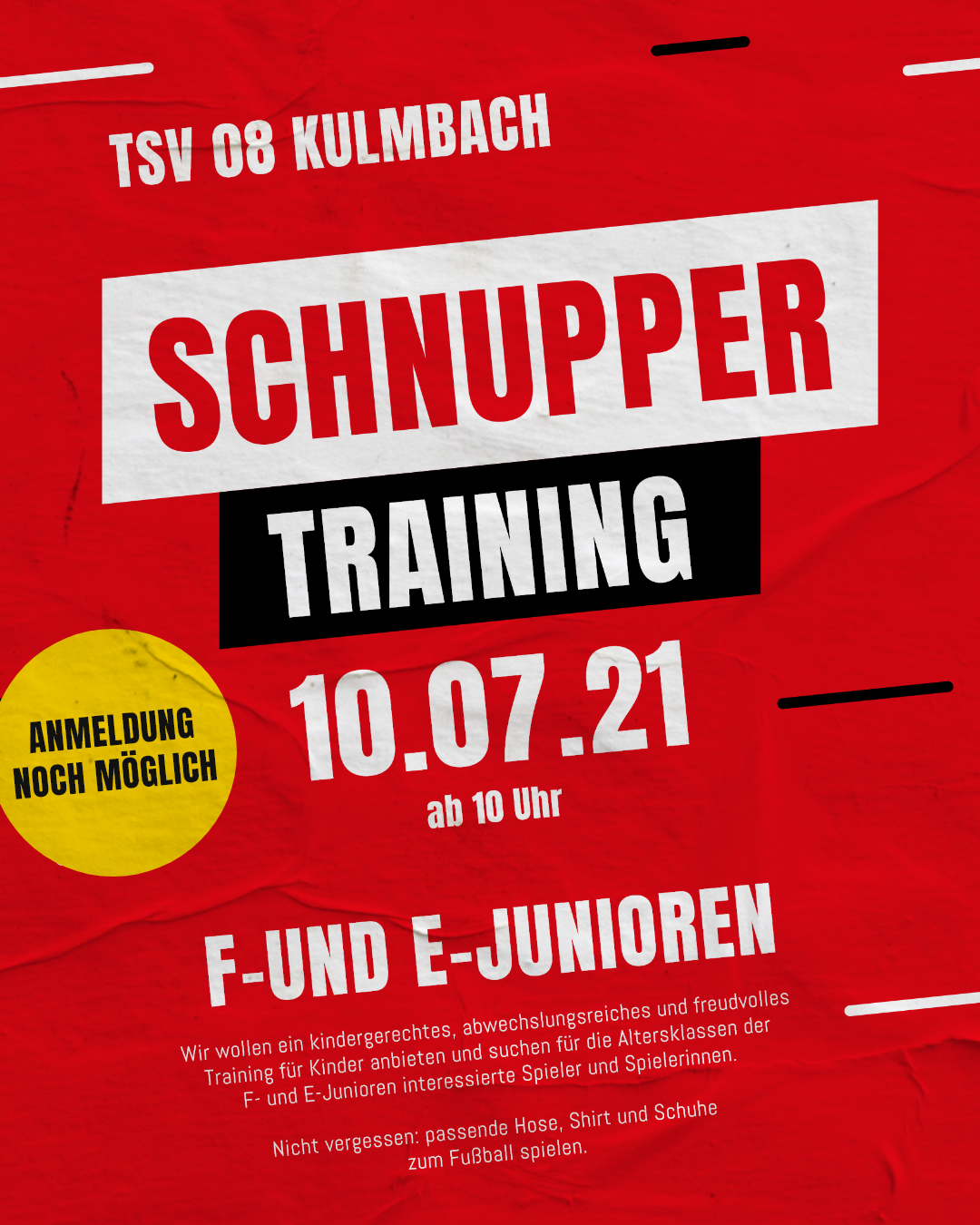 Reminder: Schnuppertraining