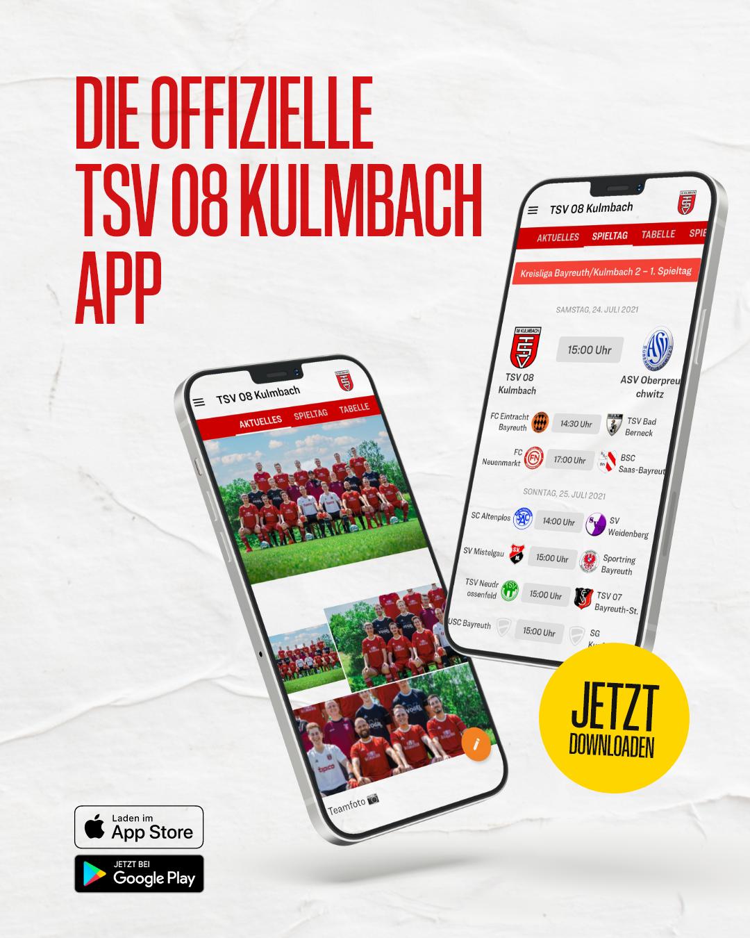 Die offizielle TSV 08 Kulmbach App