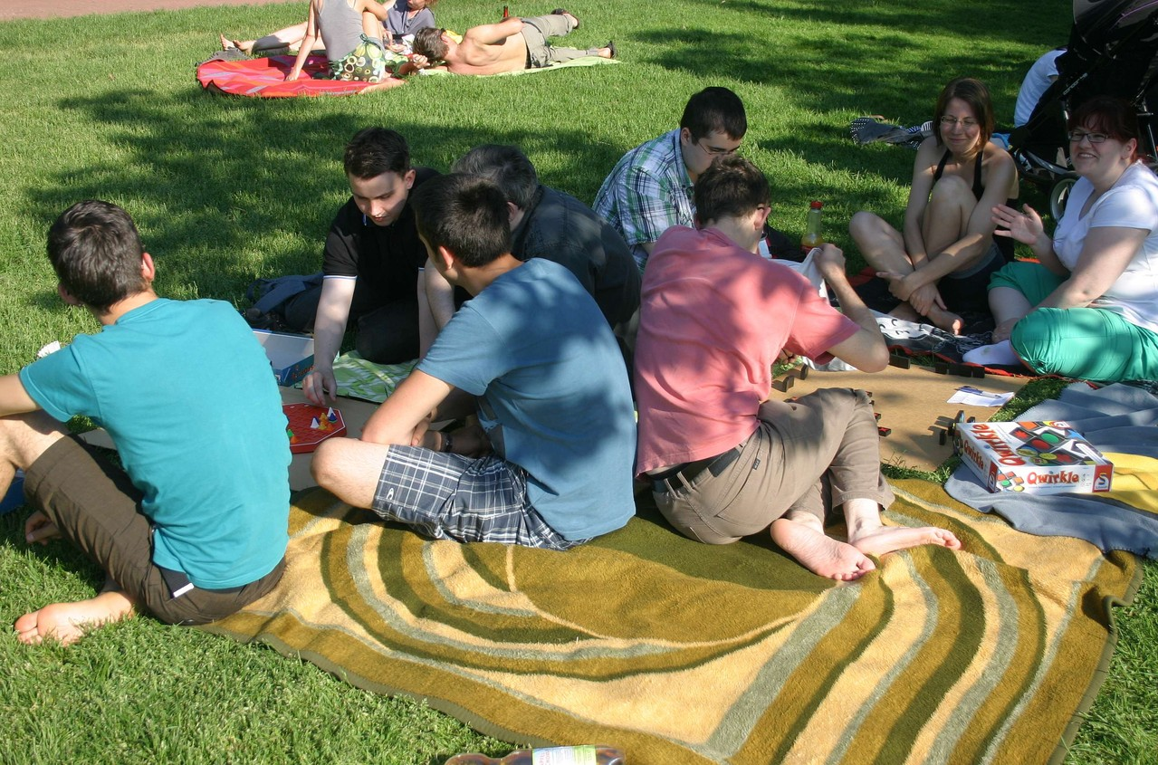 Spielen im Park