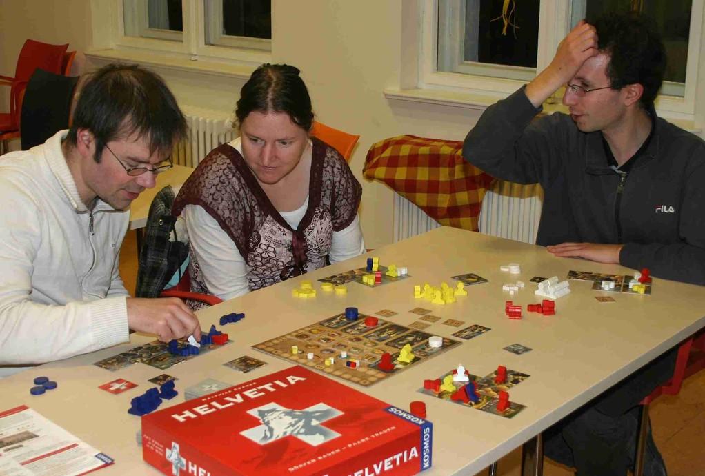 Dörfer planen auf dem Pankower Spieleabend