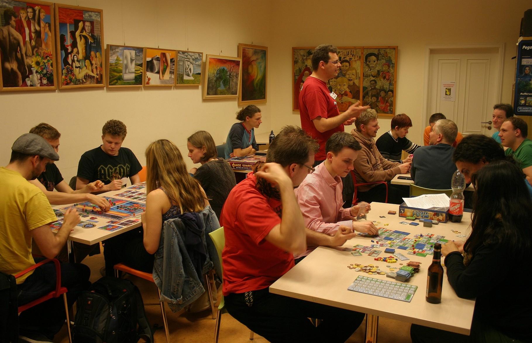 Pegasus-Raum auf dem 5. Pankower Spielefest