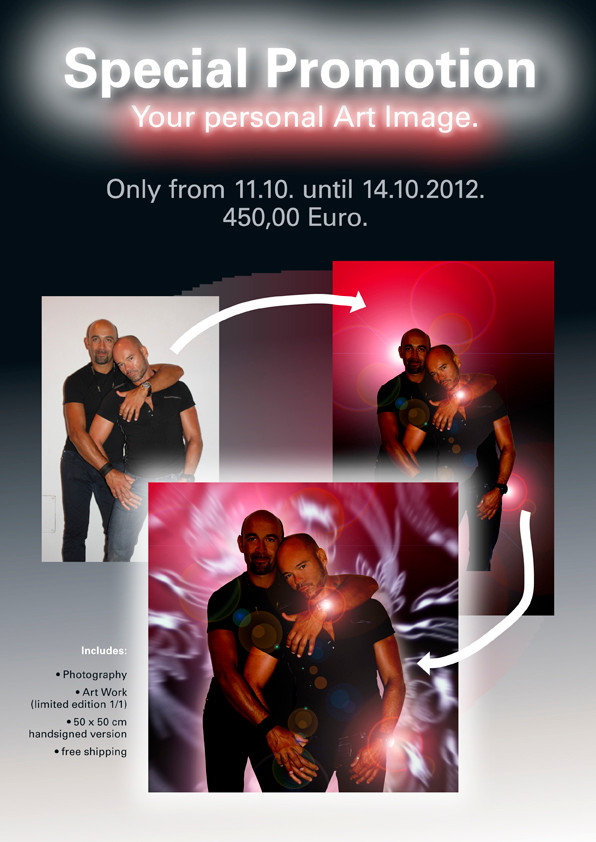 only in Axel Hotel, Barcelona, Aribau, 33, 11.10., 20:30 hrs until 14.10.2012!