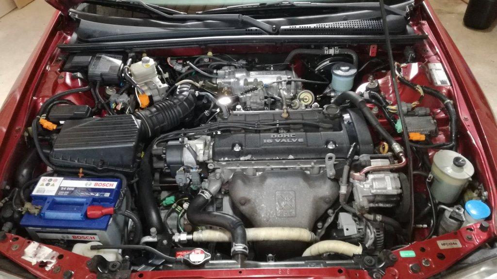 Moteur Honda 2.3 DOHC 158 cv BVA monté sur Rover 623