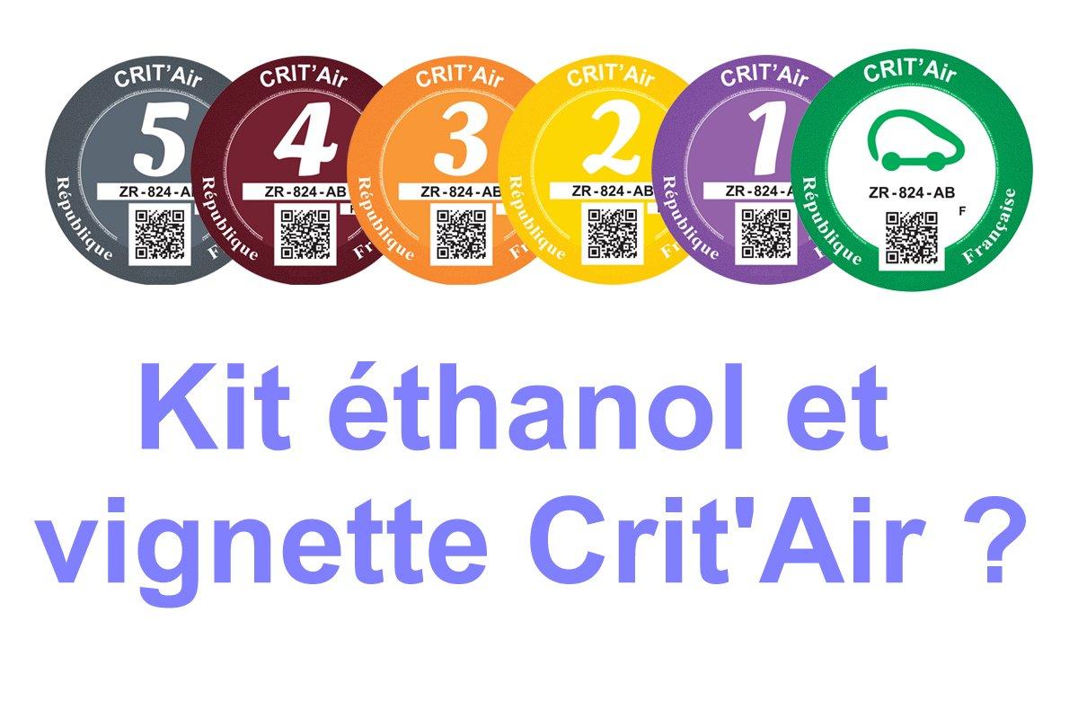 Kit E85 et Vignette Crit'Air