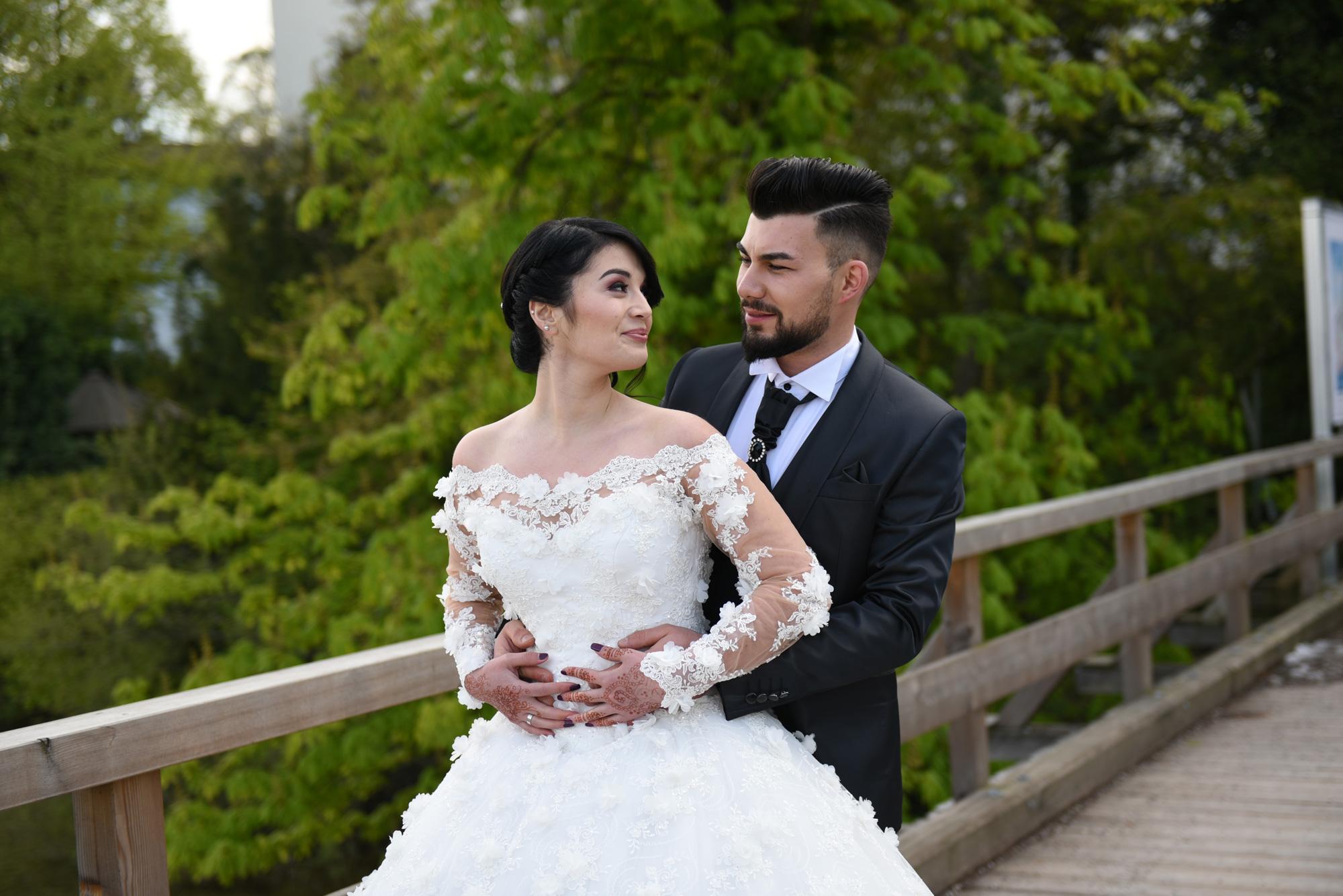 Hochzeitfrisur & Makeup