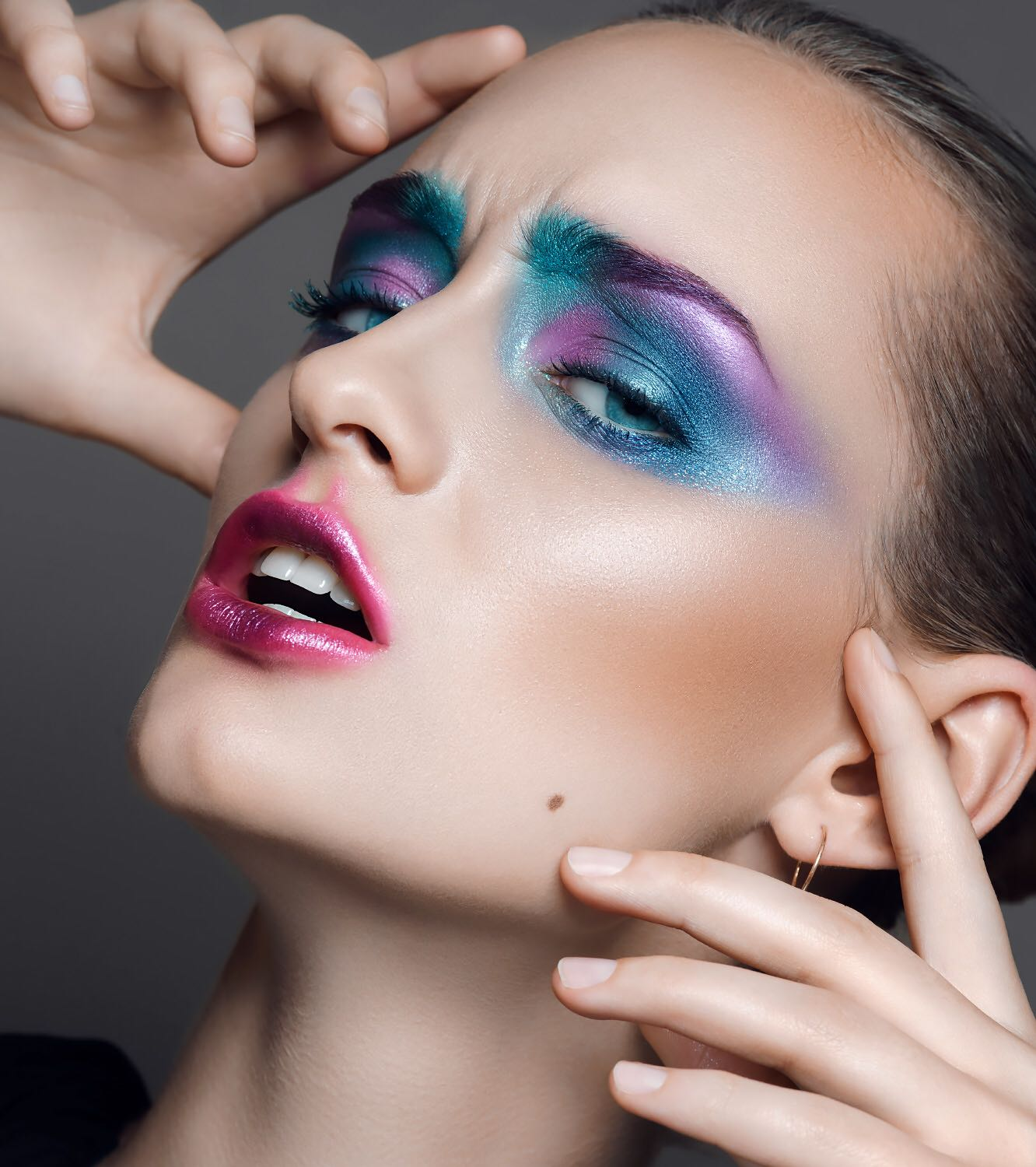 Colourful Airbrush Makeup