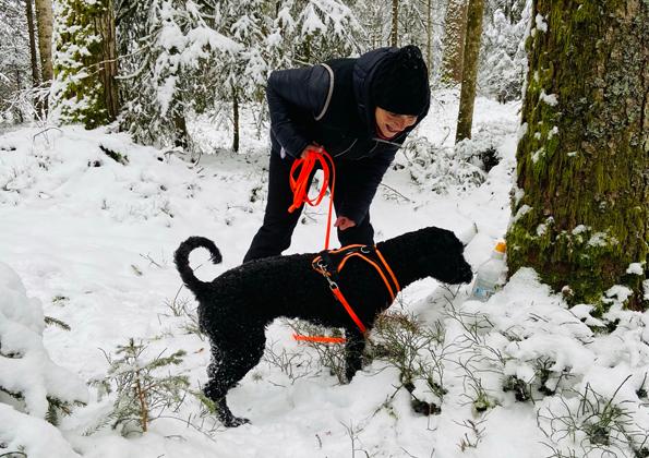"""Ein tolles """"Winteraktiv"""" mit Schnee und bei  frostigen Temperaturen"""
