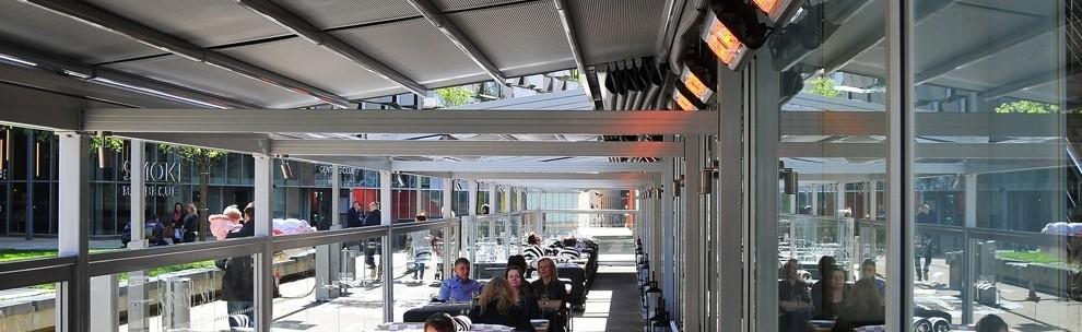 Eine Ausfahrbare Markise, Kostengünstige Wärme Und Ein Windschutzsystem U003d  Die Perfekte 365 Tage Terrasse !