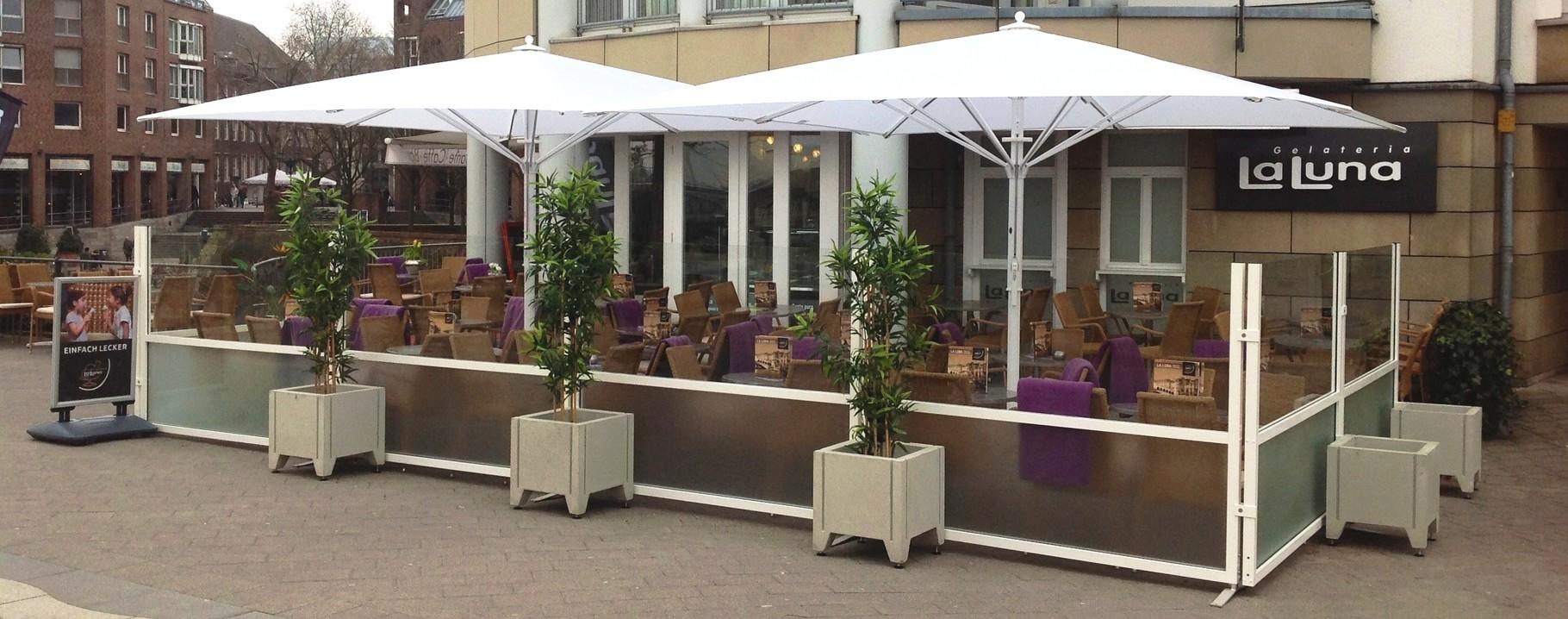 Windschutzanlage Fur Terrassen Gastronomie Windschutz
