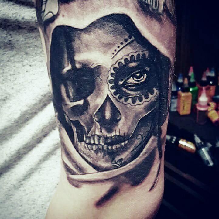 la Catrina Skull Tattoo